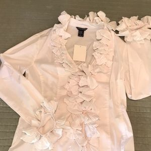 NWT Boston Proper ruffle blouse